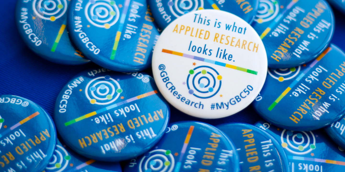 Applied Research Buttons #MyGBC50