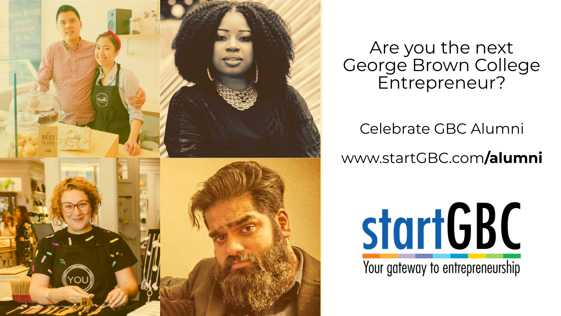 Are you the next startGBC alumni? Visit startgbc.com/alumni